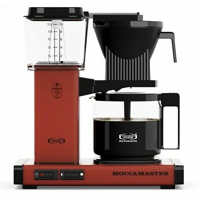 Moccamaster KBG Coffee Maker - Automatic Drip-Stop – 40oz Glass Carafe - Brick R