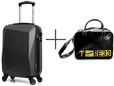 Set Valise Cabine ABS Sac De Sport Bagages Rigide Sport Bagagerie Low Cost Avion
