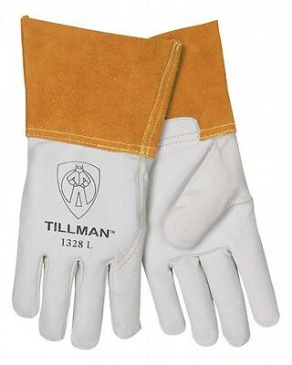 "Tillman 1328 Large TIG Welding Gloves Pearl Goatskin Leather w/ 4""Cuff 1Pair"