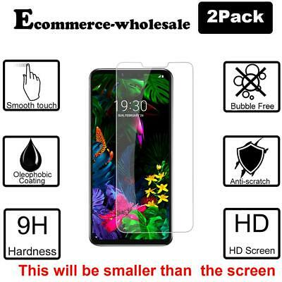 2-Pack Premium Real Tempered Glass Screen Protector Guard Shield For LG G8 ThinQ