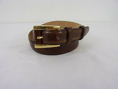 29fccb260 AMERICAN EAGLE LEATHER Wide Belt w/Brass Buckle SIZE: 43