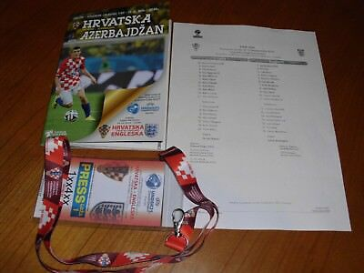 Croatia v Azerbaijan + Croatia v England (U-21) - Programme, line-up, press pass