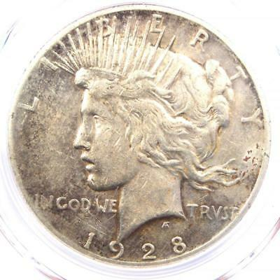 1928 Peace Silver Dollar $1 - PCGS XF Details (EF) - Rare 1928-P Key Date Coin!
