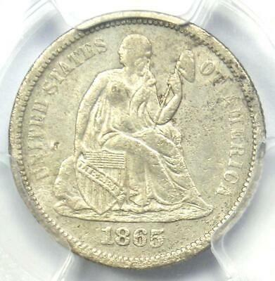1865-S Seated Liberty Dime 10C - PCGS XF Details - Rare Civil War Date Coin!