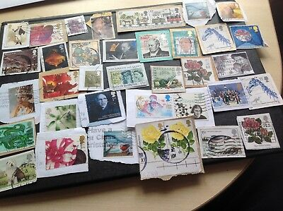 Great Britain stamps many High Values cat up to £3 each, many nicer values Lot2