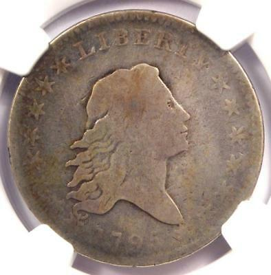1795 Flowing Hair Half Dollar 50C Coin - Certified NGC VG8 - $1,560 Value!