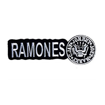 Ramones Embroidered Iron-On Patch Punk Rock NEW Logo BlkWh