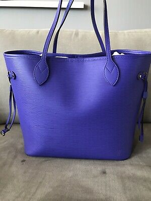 456893c6539c Authentic Louis Vuitton Epi Neverfull Mm Shoulder Tote Bag Purse Purple