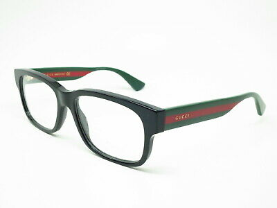 2cff4ab108 New Authentic Gucci GG0343O 007 Black Eyeglasses GG 0343O 57mm Rx-able