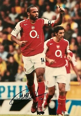 Thierry Henry HAND SIGNED Large 20x16 ARSENAL LEGEND Photograph *In Person* COA