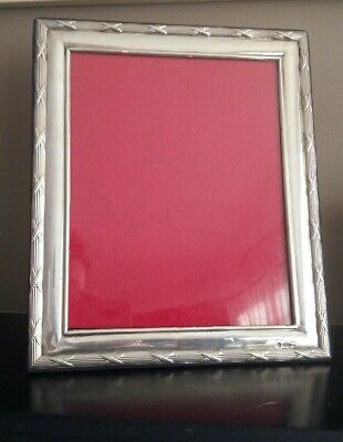 LARGE SOLID STERLING SILVER PHOTO FRAME hm london  12 INCHES BY 10 INCHES