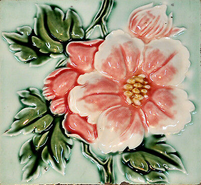 Art deco Made in Japan Antique Ceramic Tile old circa 1930 or earlier.