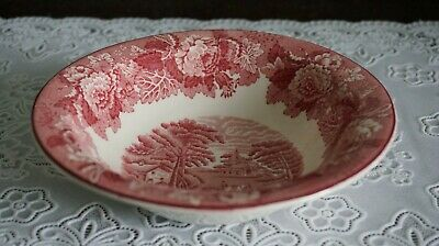 VINTAGE Wood and Sons Red Enoch Woods English Scenery Cereal Bowl, England