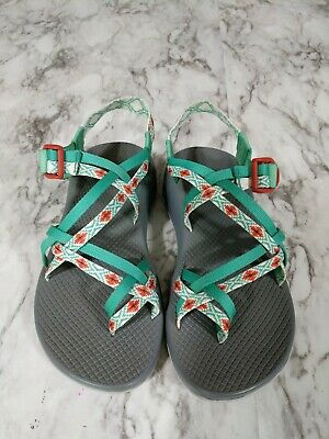 25896979dd1a CHACO ZX 2 WOMENS Sports Sandals Teal Orange Pattern size 9 -  58.00 ...