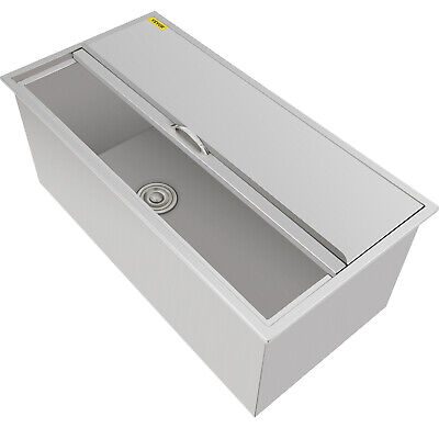 92 X 46 X 36 CM Drop In Ice Chest Bin + Drain Handle Wine Beer Juicer Chiller