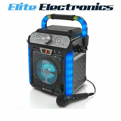 Singing Machine Sml682Btbk Bluetooth Groove Cube Cdg Karaoke