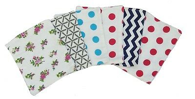 100 Pack Cotton Double Layer Reusable Flannel Baby Wipe, Inserts, Nappy For Baby