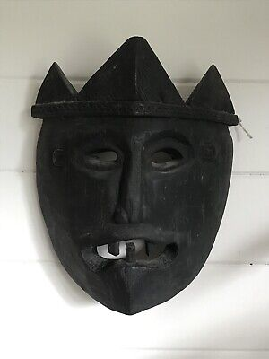 Vintage African ? Wooden Tribal Mask Mask Of The Dead