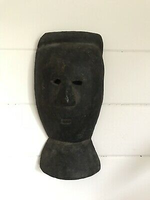 Antique Hand Carved Wooden Mask African Wood Carving