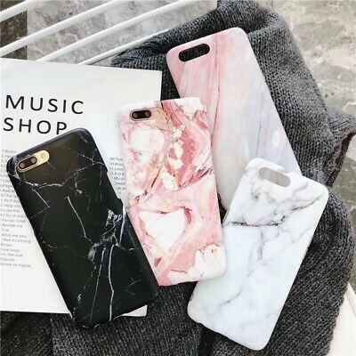 NEW Marble Phone Case Cover For iPhone 7 6 6S 8 Plus XS XR Soft TPU Back Shell