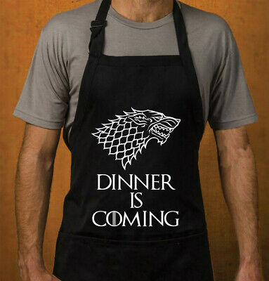 GADGET TRONO DI SPADE GREMBIULE DA CUCINA GOT GAME OF THRONES Dinner is coming