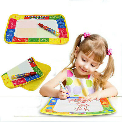 Baby Kids Toys Activities Water Scrawl Drawing Mat Drawing Painting Magic Pen UK