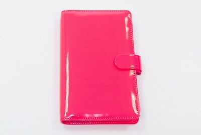 Filofax Compact Patent Fluo Pink