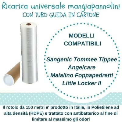 Ricarica Mangiapannolini compatibile Sangenic Litter Locker II Angelcar Foppaped