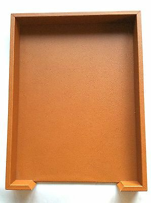 Pinetti Letter tray27 x 35 x 6 liverpool leather Camel