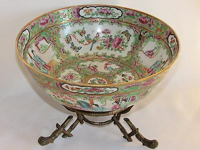 04b56 Antique Cut on Stand Porcelain of Canton China Xixth Mount Bronze