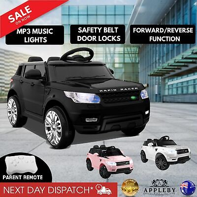 Kids Ride On Range Rover Coupe Remote Control Motorized Electric Car Toys Black