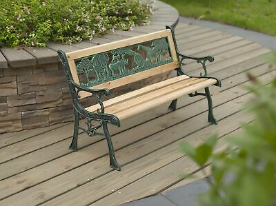 Swell Kids Garden Bench Metal Ornate Design Wooden 2 Seater Short Links Chair Design For Home Short Linksinfo