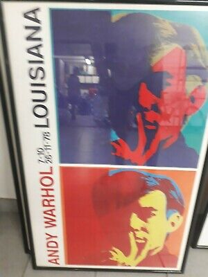 ANDY WARHOL -Exhibition Poster - 7-10 26-11-78 Louisiana 60x100