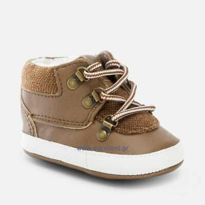 Designer MAYORAL Baby Boys Pre Walking Shoes Brown WAS £18.00 NOW £9.99 SALE