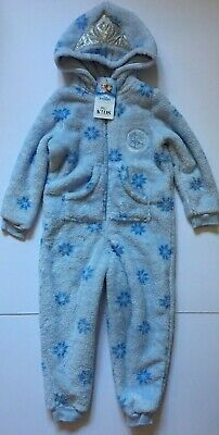 Girls M&S Disney Frozen Hooded All in One Nightwear Sleepwear Age 3-4, 4-5, 5-6
