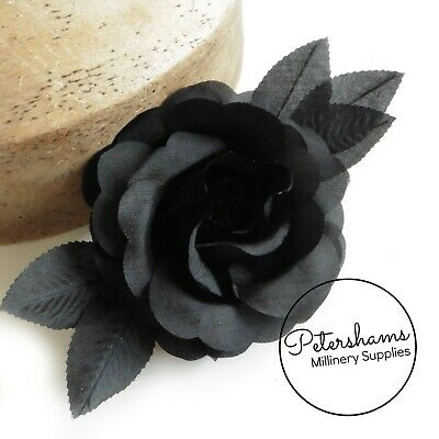 Vintage 'Suzy' Black Flower for Millinery & Fascinators