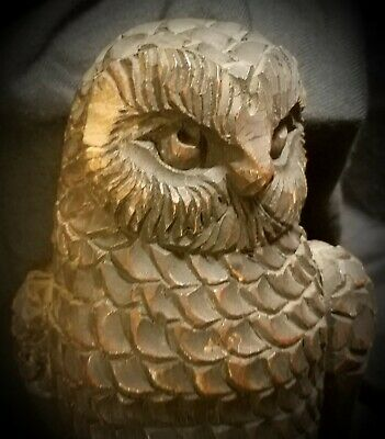 Carved Folk Art Owl Decoy