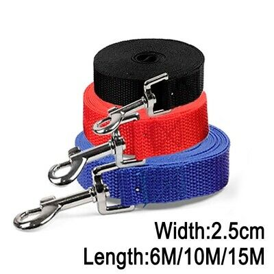 Dog Long Nylon Leashes Width 2.5cm Pet Puppy Training Strap Rope Belt 6M/10M/15M