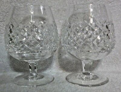 """Lot of 2 Waterford Crystal Alana Brandy Glasses 5 1/8"""""""