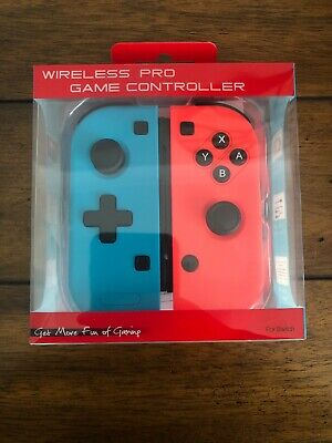 A pair Wireless Gaming Controller BT Gamepad Joypad Remote for Nintendo Switch