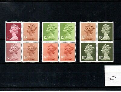GB - MACHIN (27) - BOOKLET & /or COIL PANES - 3 panes - Unmounted Mint