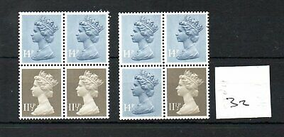 GB - MACHIN (32) - BOOKLET & /or COIL PANES - pair - Unmounted Mint