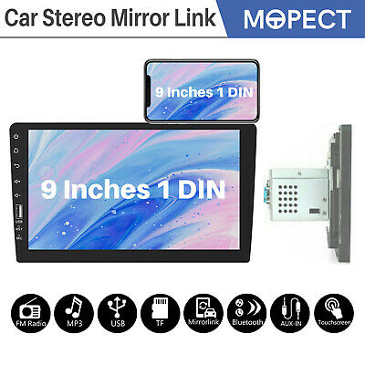 "SIngle 1 Din 9"" Car FM USB MP5 Player Touch Screen Stereo Radio AUX Bluetooth US"
