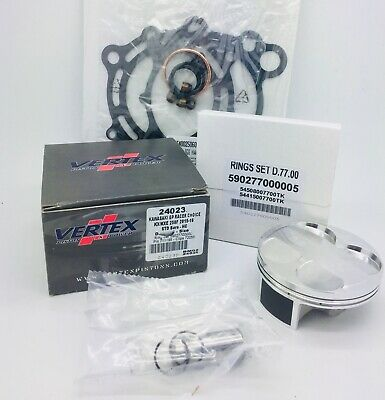 Kawasaki KXF 250 Top End Rebuild Kit Vertex Piston Gaskets 3646A 76.95mm 2011-14