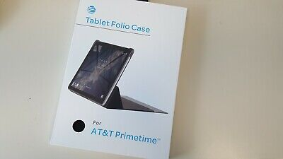 New Tablet Folio Case Cover for ZTE K92 AT&T Prime Time Type Stand - Black
