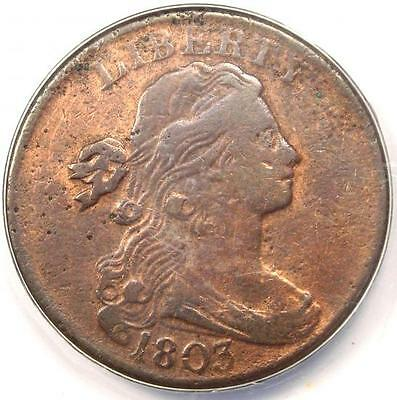 1803 Draped Bust Large Cent 1C - ANACS VF20 Details - Rare Early Date Penny