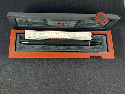Rotring 600 Trio Matte Black Ballpoint Pen Blue Red & Pencil New In Box 502640