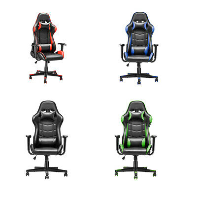 Office Chair Executive Racing Gaming Swivel Pu Leather  4 Color