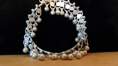 Artisan hand crafted antique  silver arm bracelet