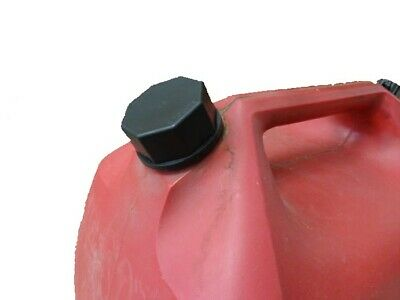 Ez-Pour® Solid Black Base Cap Water Jugs Gas Cans Storage Fine Thread
